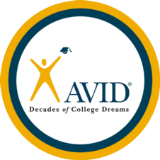 photograph of the avid logo