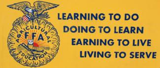 image of ffa motto (labeled for noncommercial reuse)  Learning to do Doing to Learn Earning to Live Living to Serve