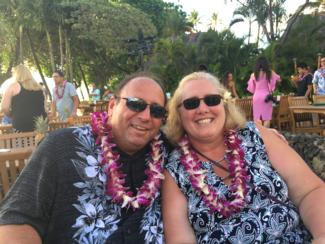 Image of Cathie Carpenter, Guidance Counselor at YMS with her husband.